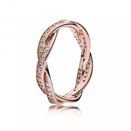 pandora bague or rose