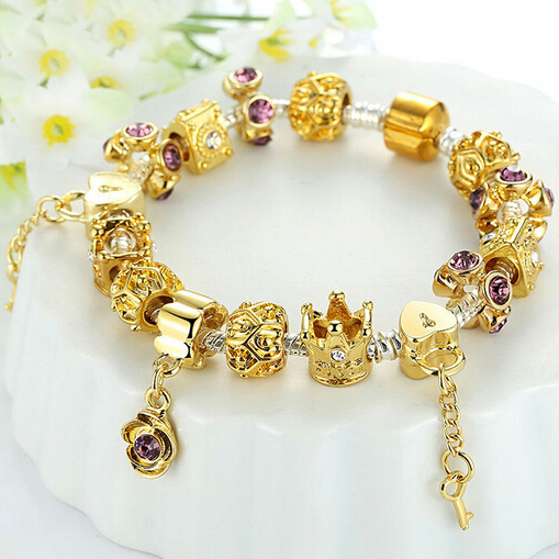 pandora yellow gold charm