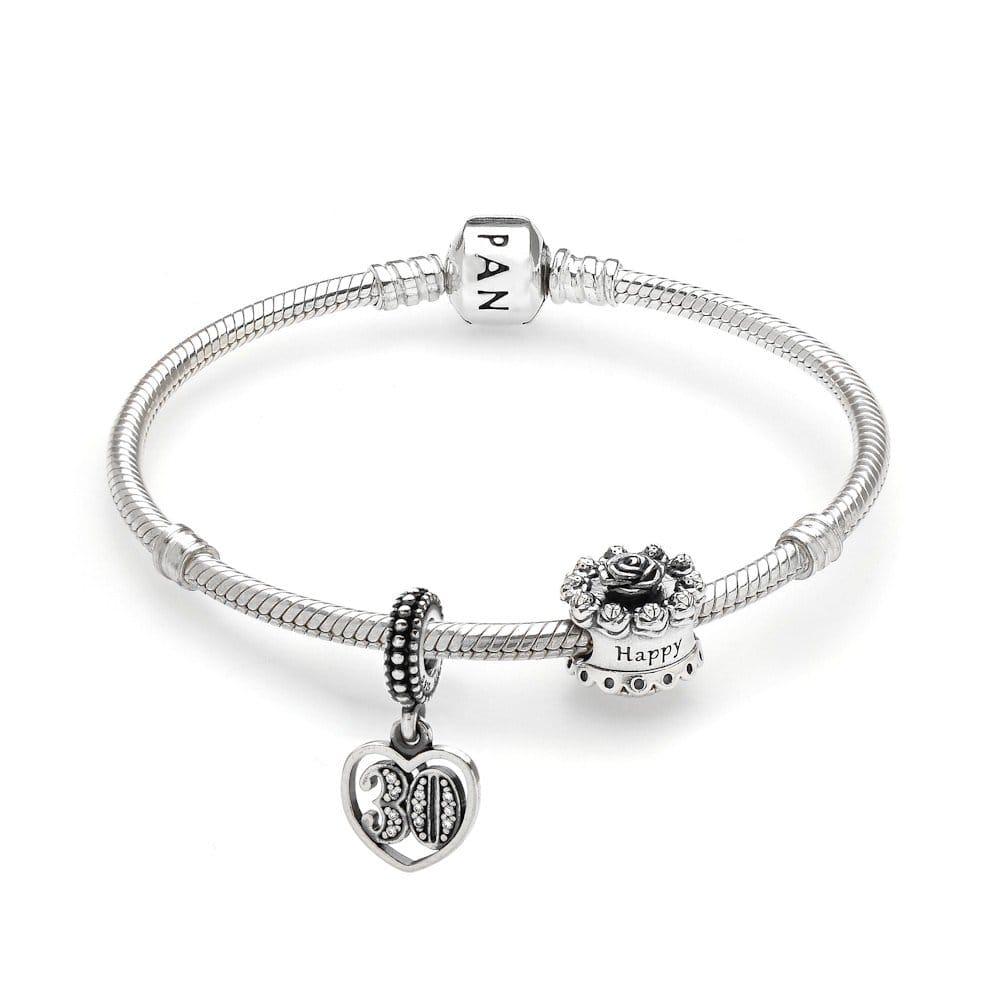59913050a pandora bracelet 30th birthday charms