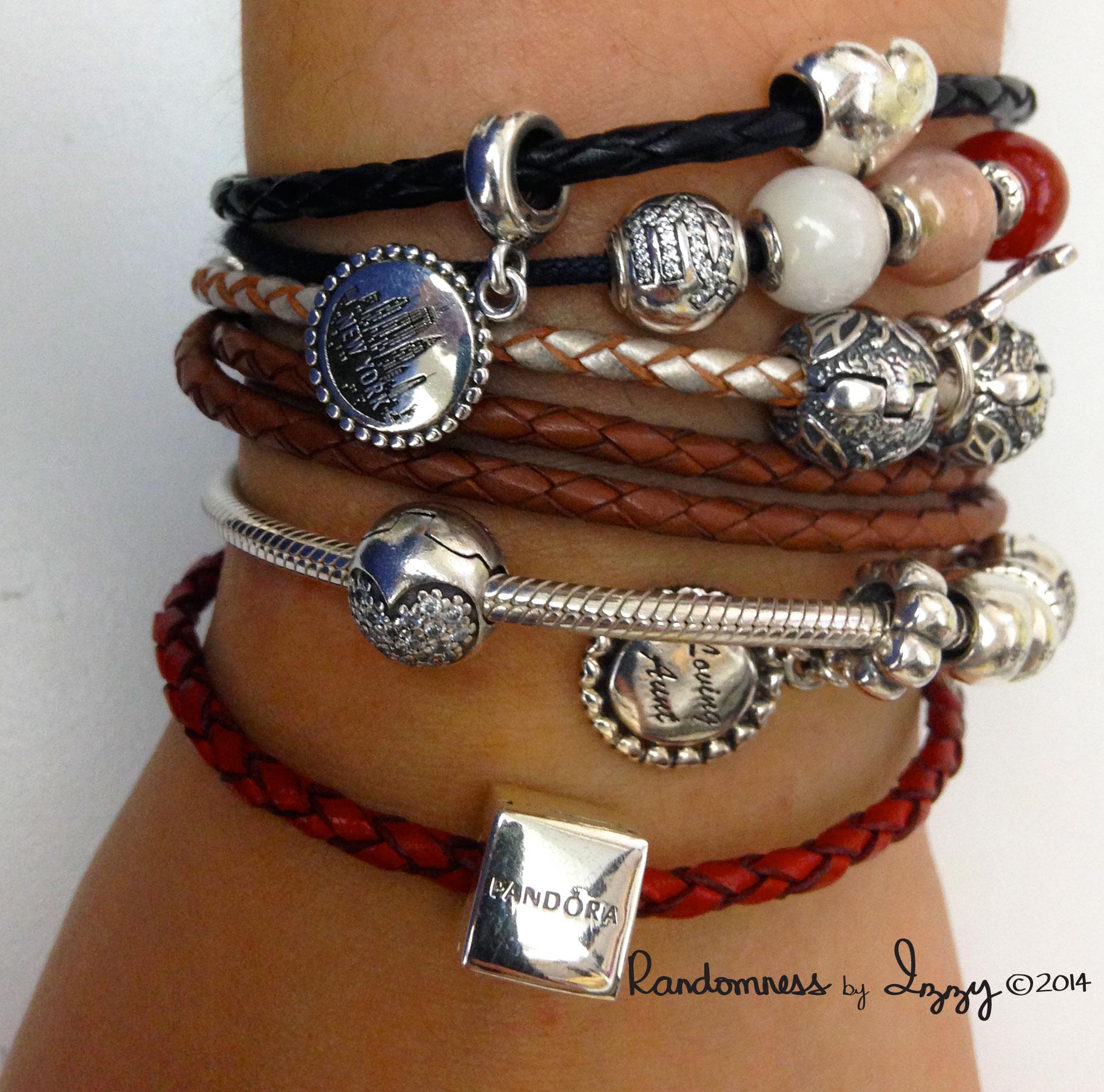 f3ba2f175 purchase double black leather pandora bracelet with charms 34c24 67a7e; get pandora  bracelet 35 66bf8 277e2