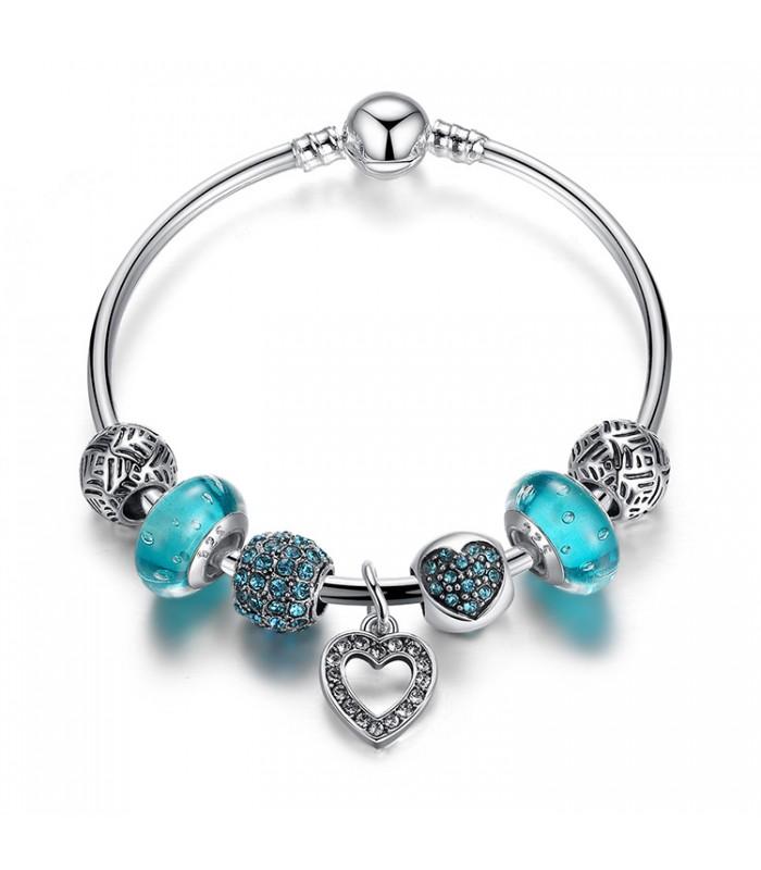 pandora bracelet bleu
