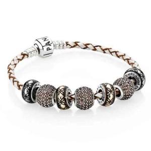 pandora bracelet cuir beige