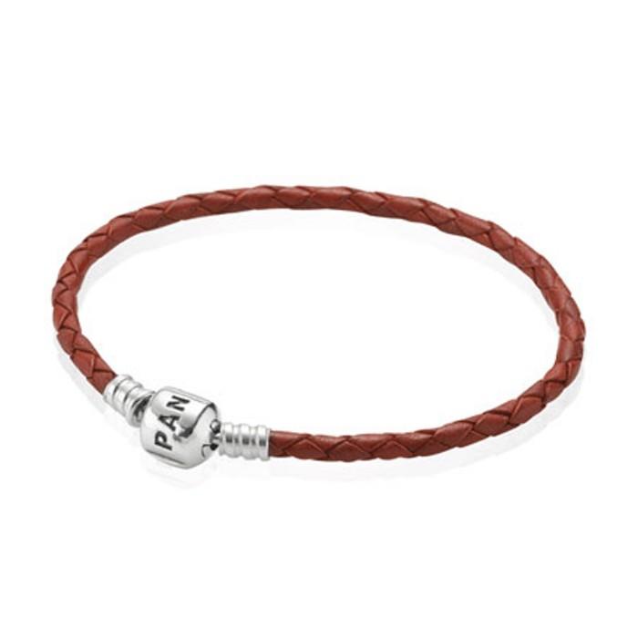 pandora bracelet cuir rouge