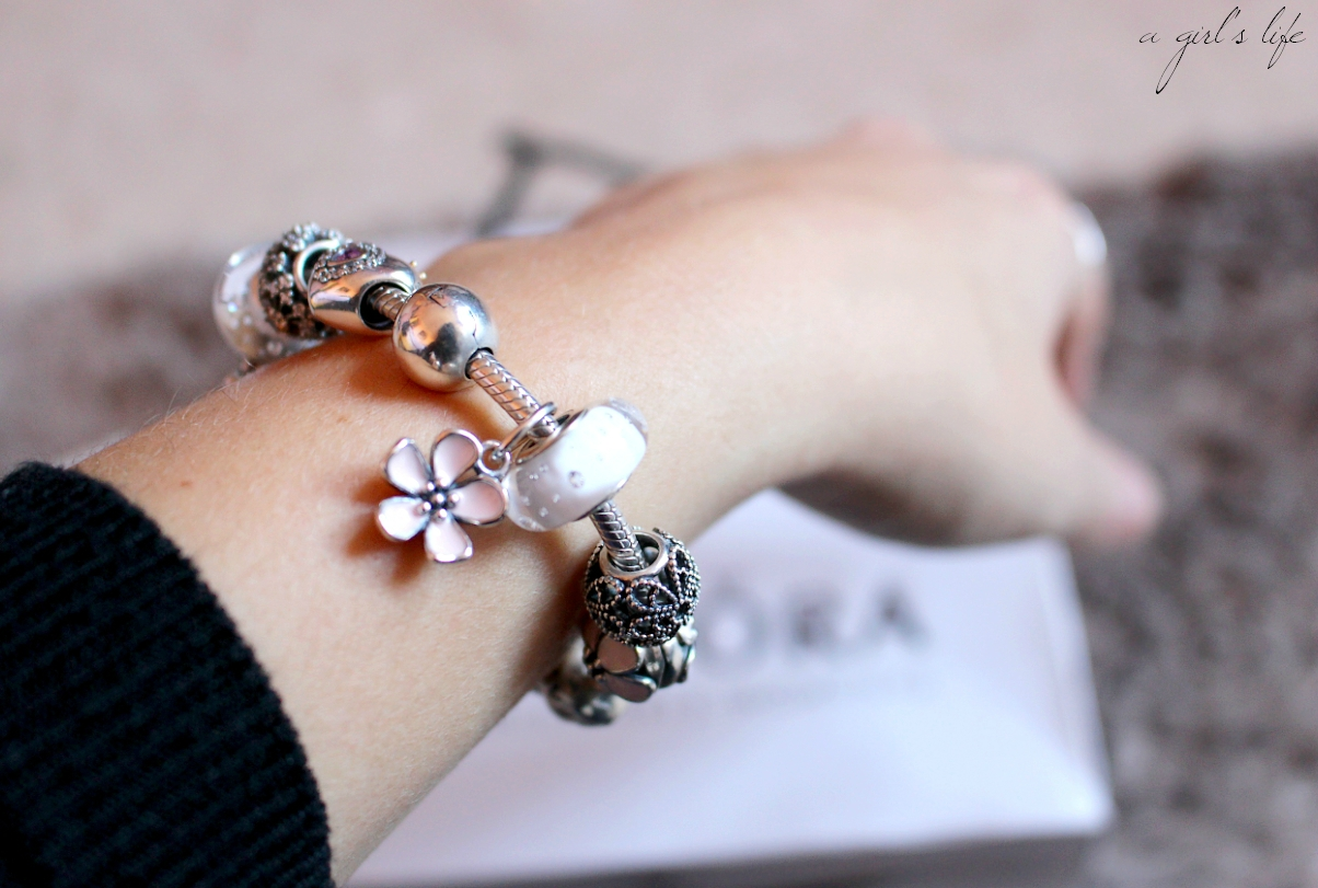 pandora bracelet de la pub
