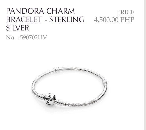 Pandora Bracelet How Much Philippines