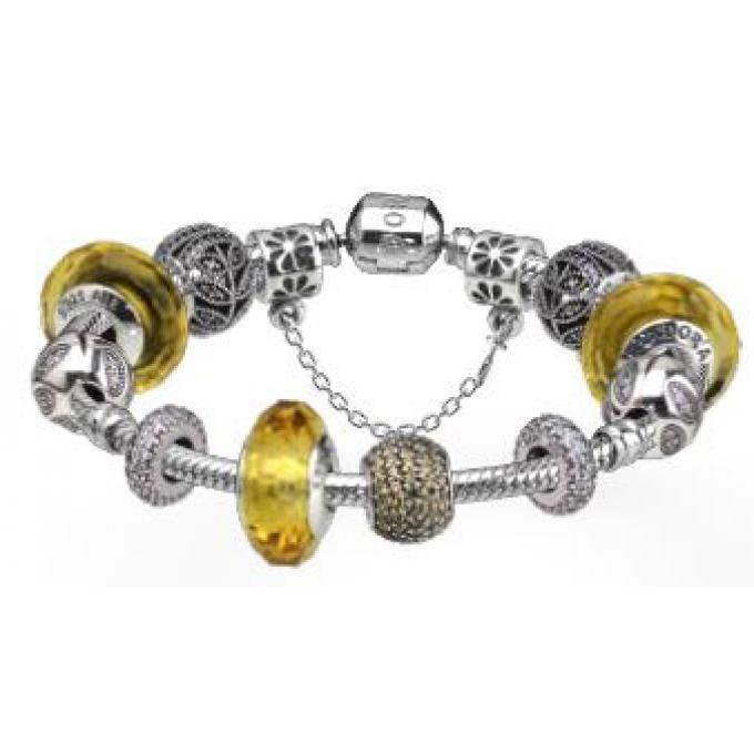 pandora bracelet jaune