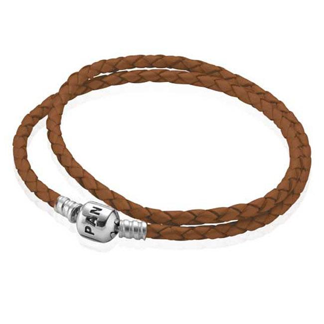 pandora bracelet leather double
