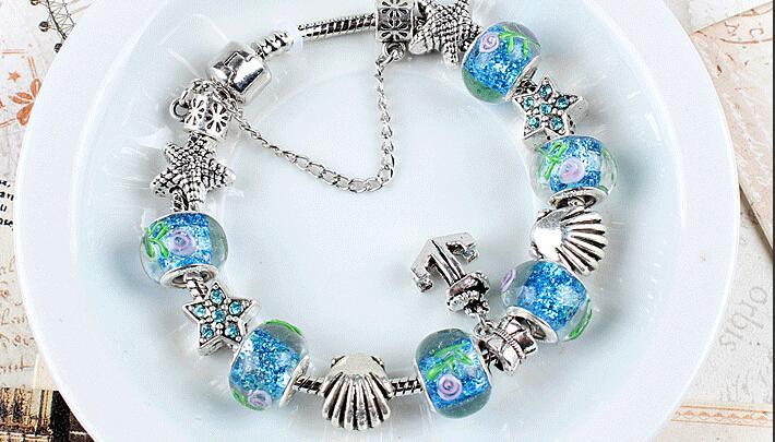 pandora bracelet murano glass