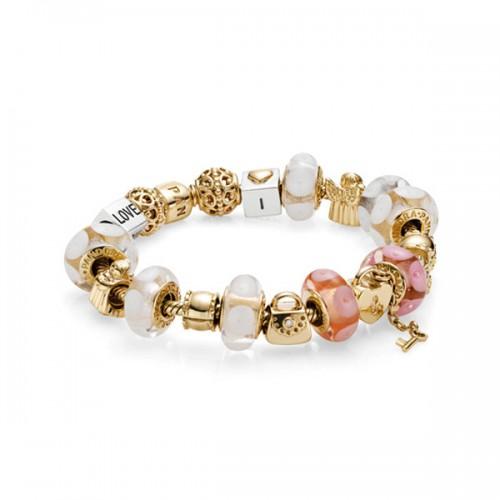 pandora bracelet or jaune