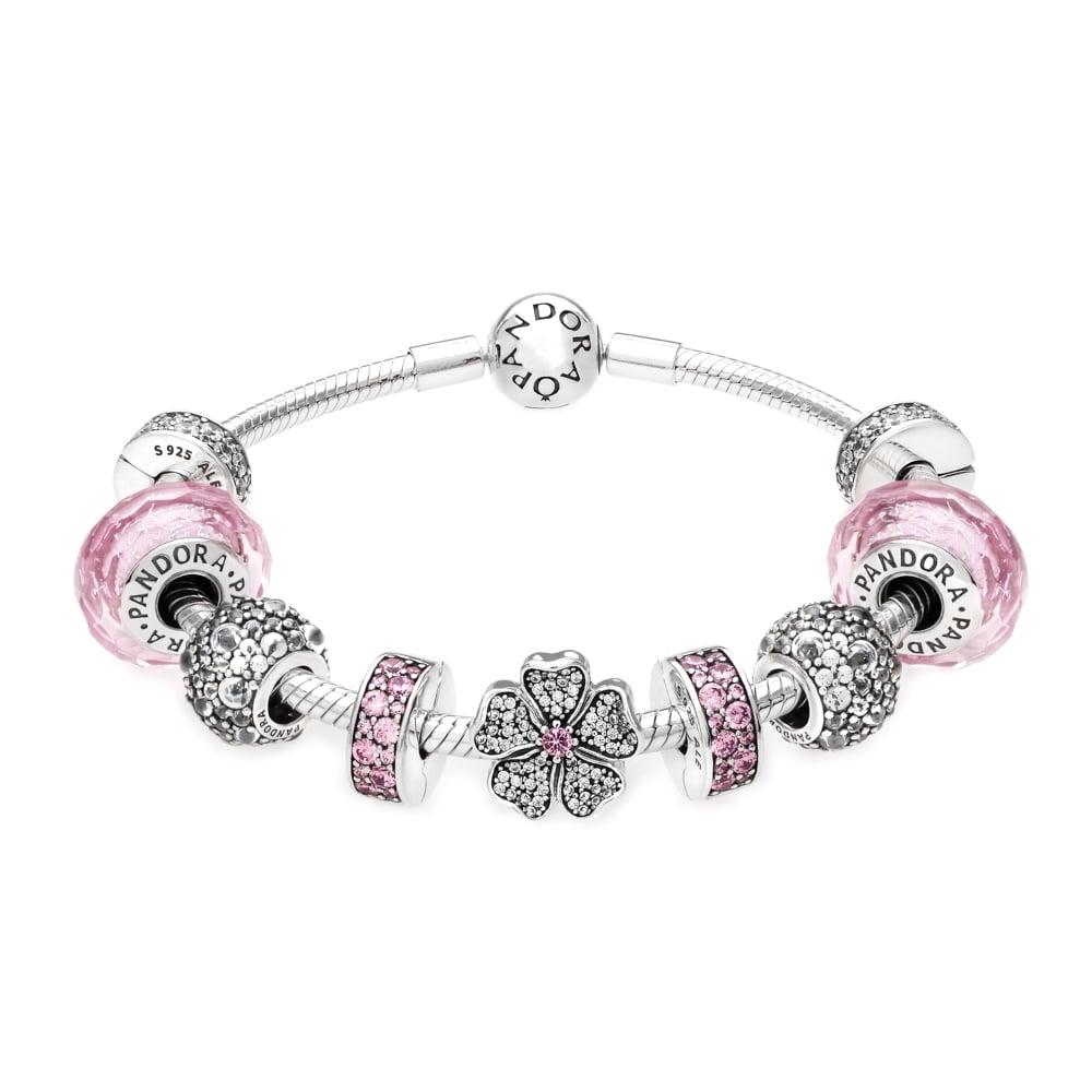 pink pandora bracelet