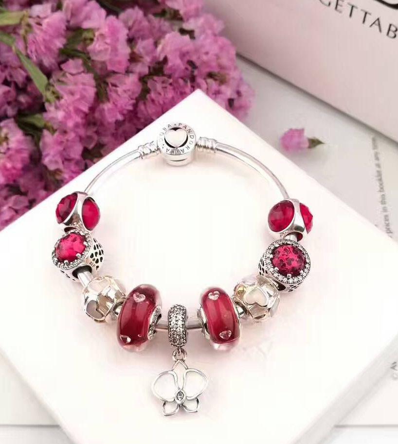 pandora bracelet red