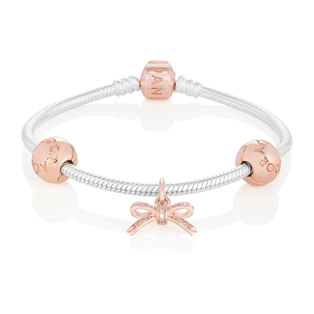 pandora bracelet rose gold uk