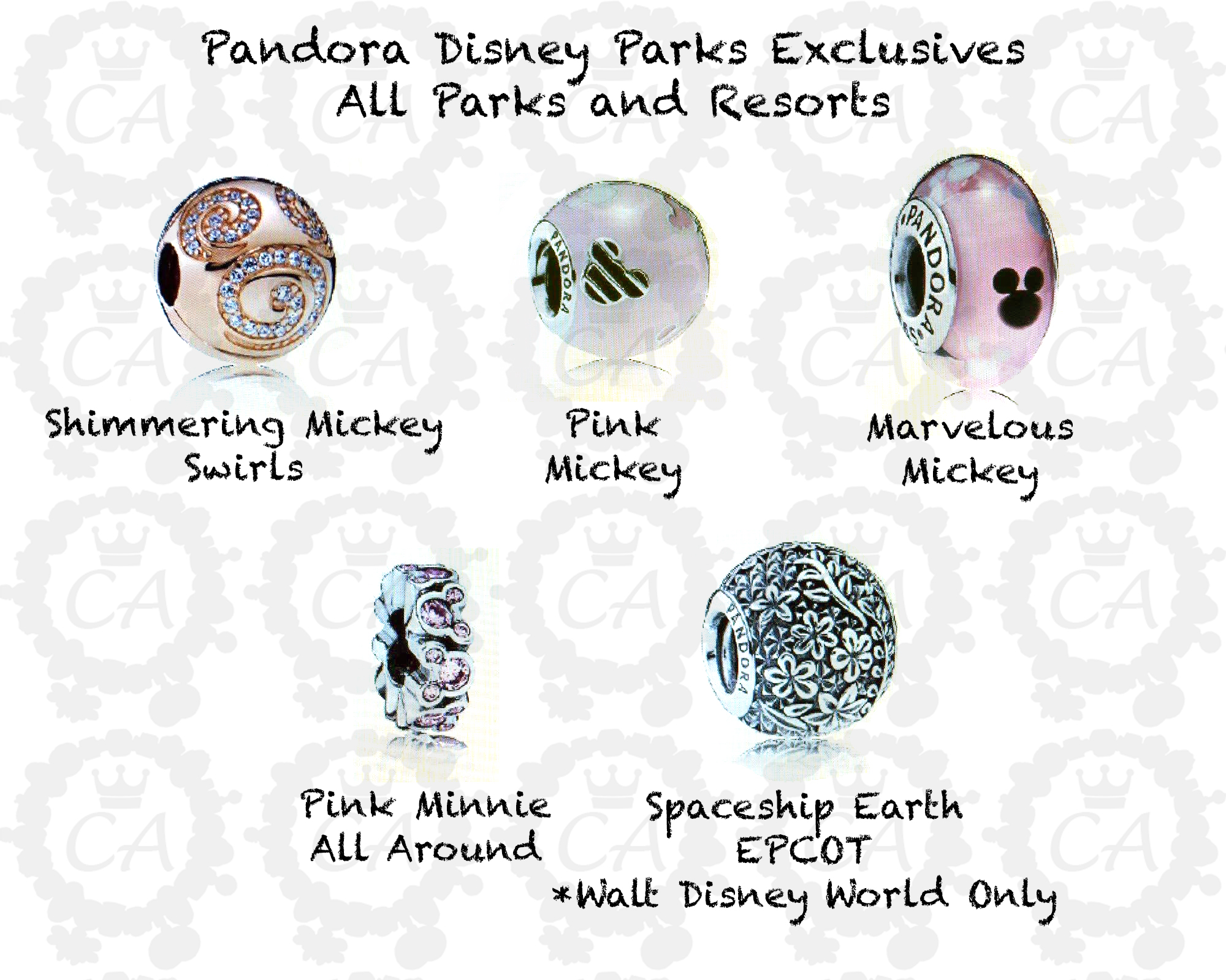 pandora charms exclusive to disney parks