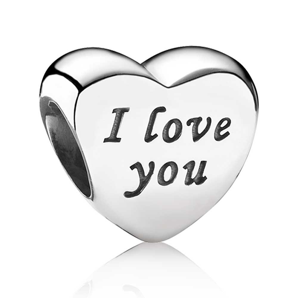 pandora charms i love you