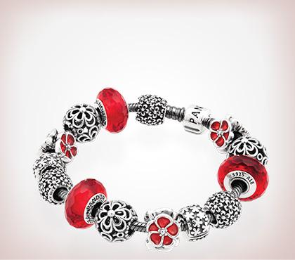 pandora charms red