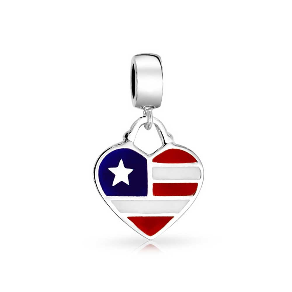 american flag pandora charm