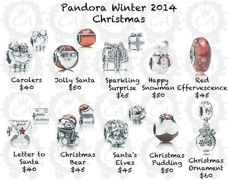 Pandora Christmas Charms.Pandora Charms Xmas 2015